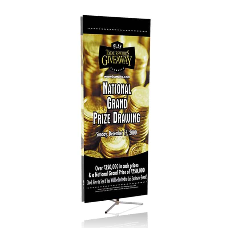 large sprint banner display with image against white background