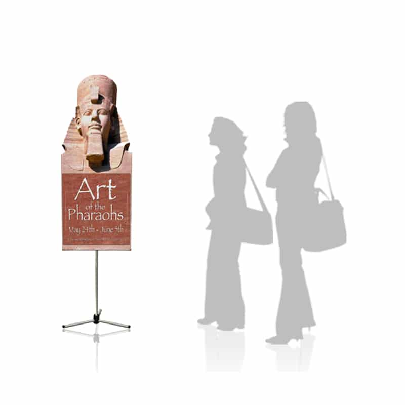 Summit Banner Stand small with profile cut graphics