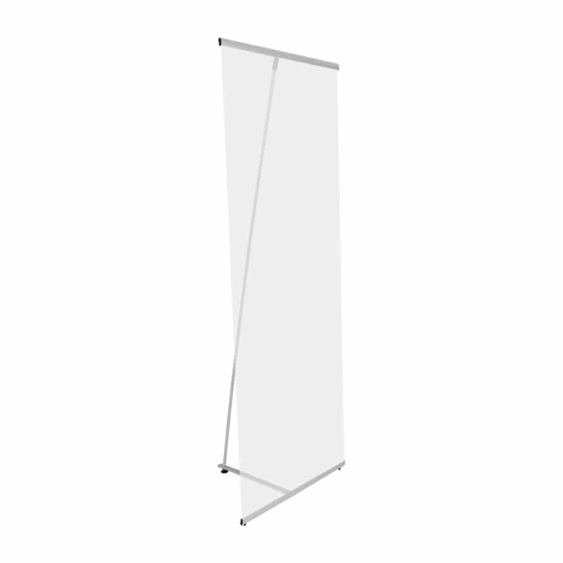 lightning banner stand display side view showing pole and graphics bars
