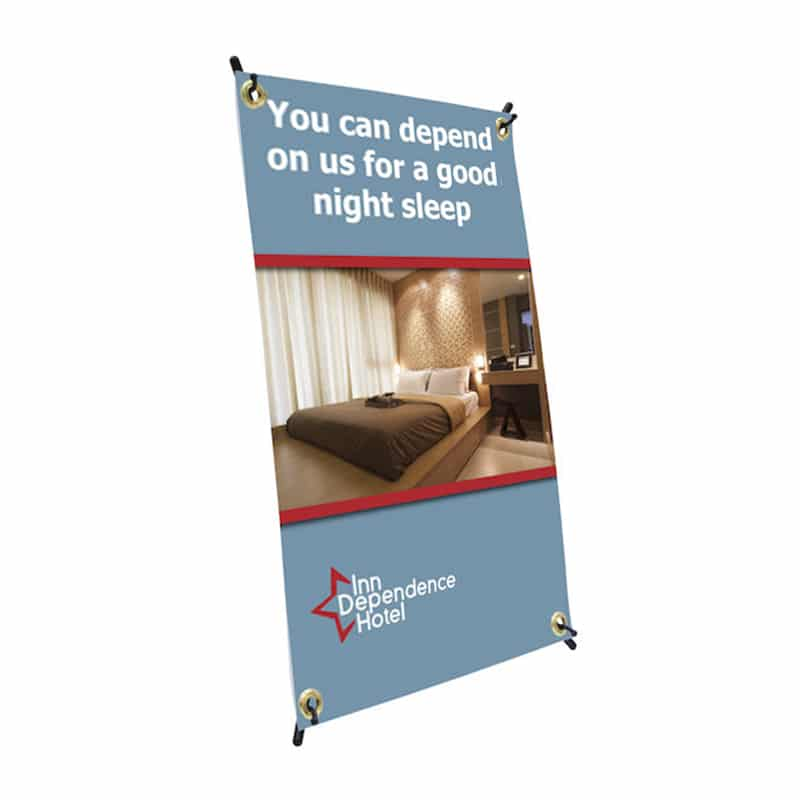 Mini Spider Banner with X frame and graphic included.
