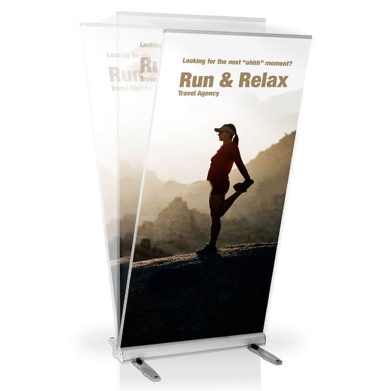 usa m2 outdoor banner stand flex capability for wind