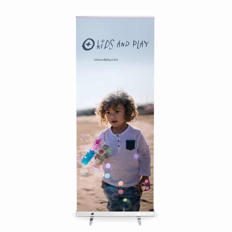 media screen xl banner stand display front with graphic