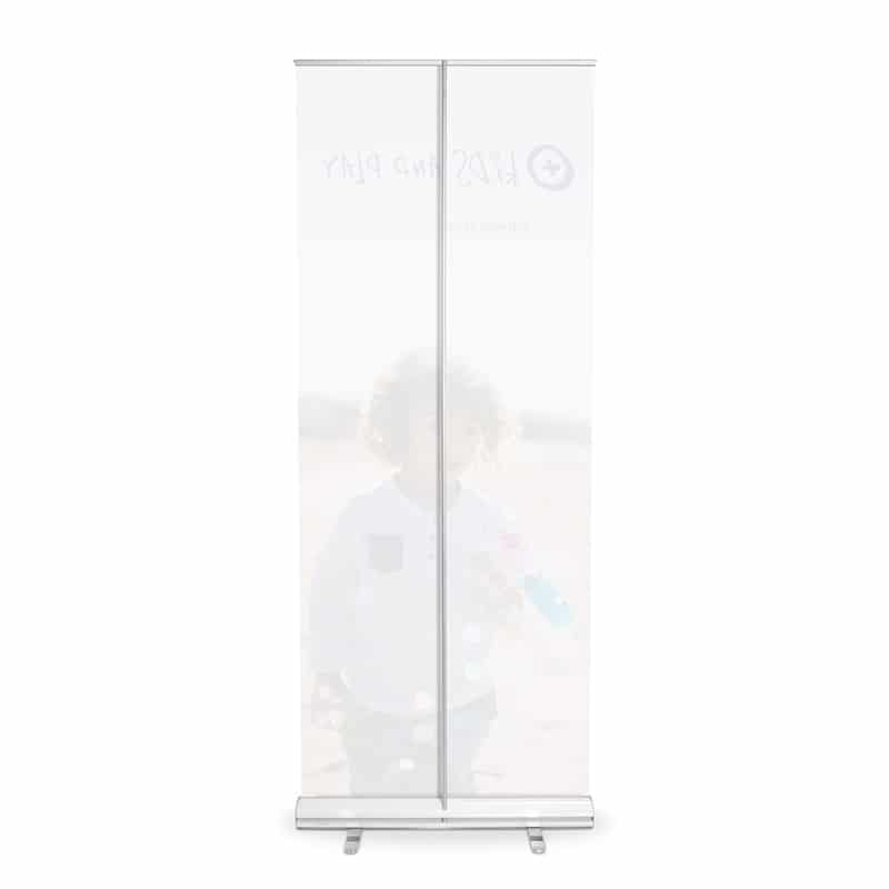media screen xl banner stand display back-side with pole
