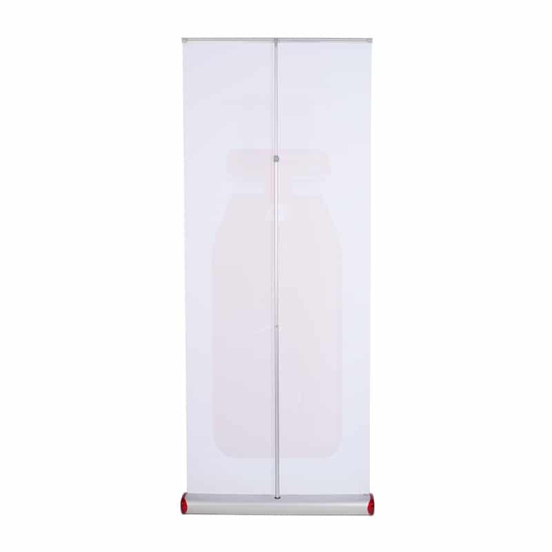 standing quickscreen 3 banner stand display back-side view