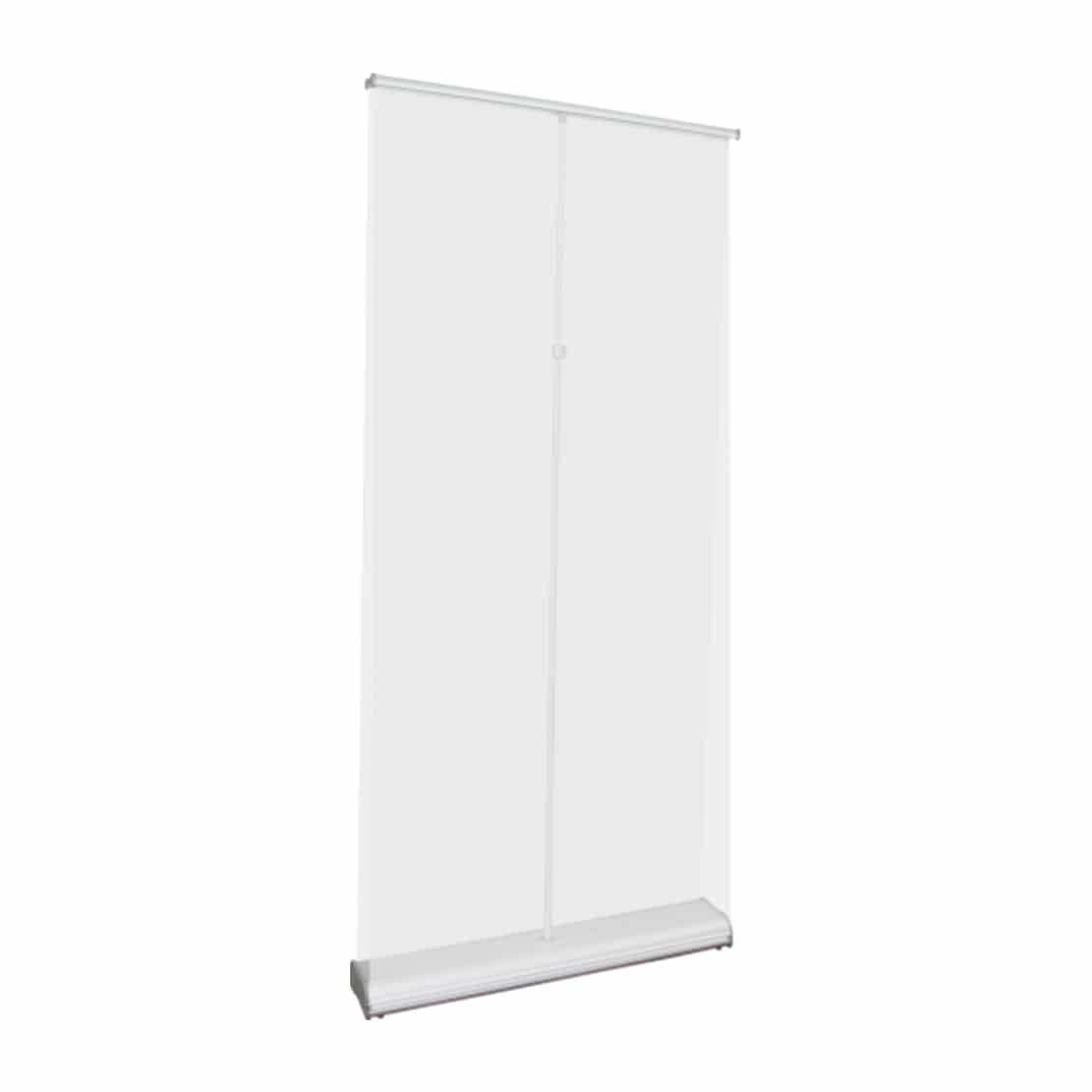 orient double-sided banner stand showing pole and top bar