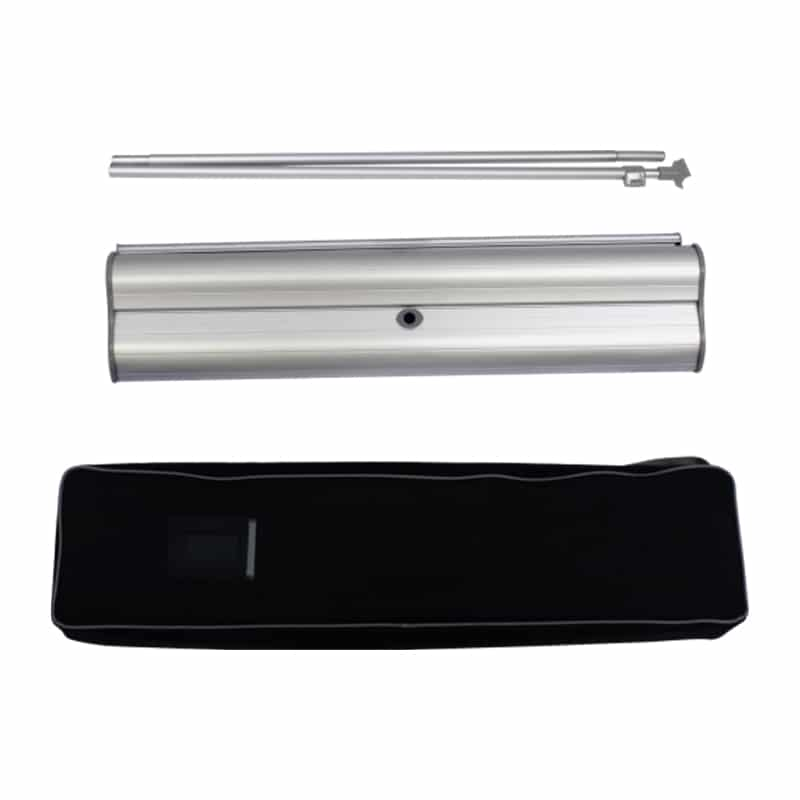 banner stand full hardware with black carry case