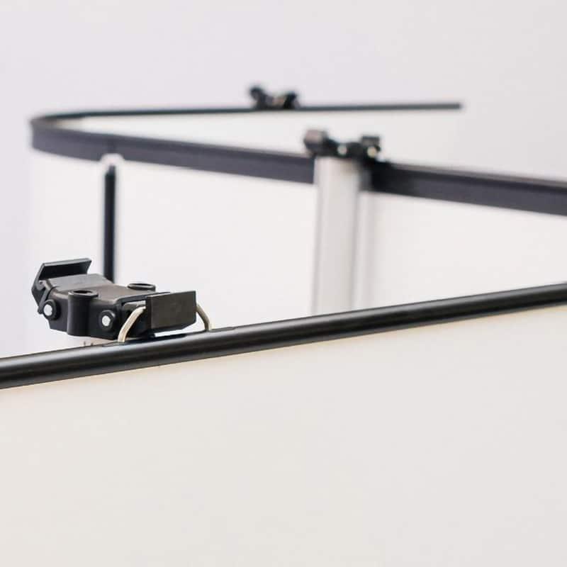 multiple link up banner stand displays hanger hardware detail