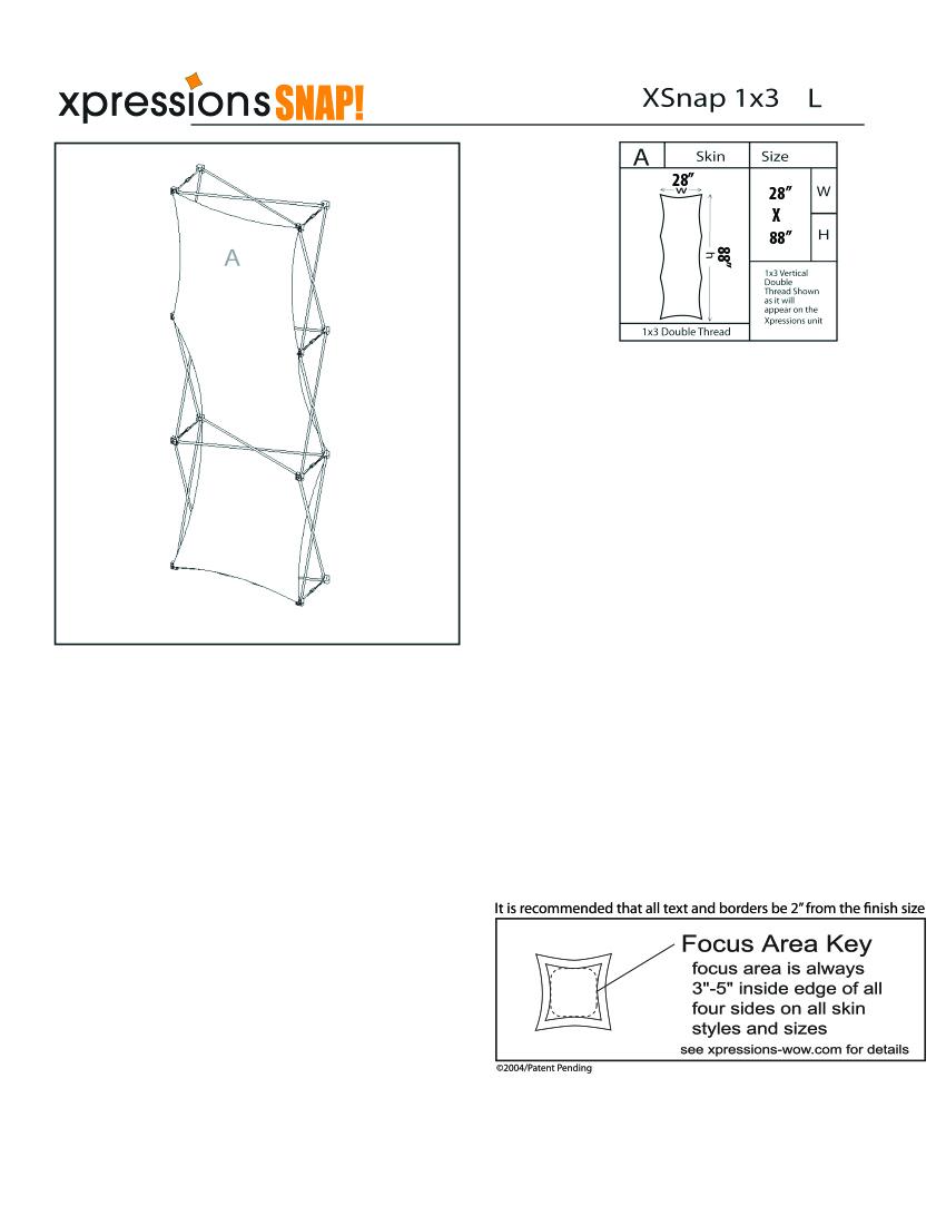 1x3 tower XSnap pop-up display kit l style sheet