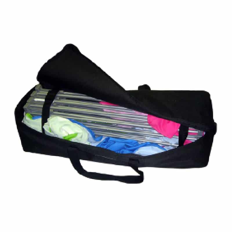XSnap pop-up display black carry bag open