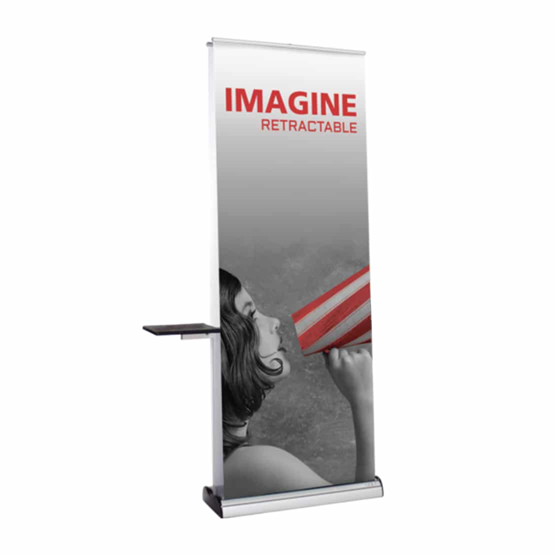 banner stand accessory kit shelf attached to imagine banner stand display