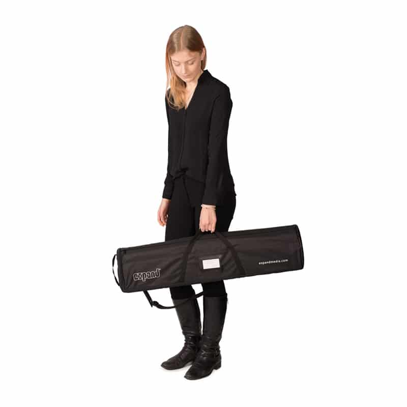 model carrying banner stand case