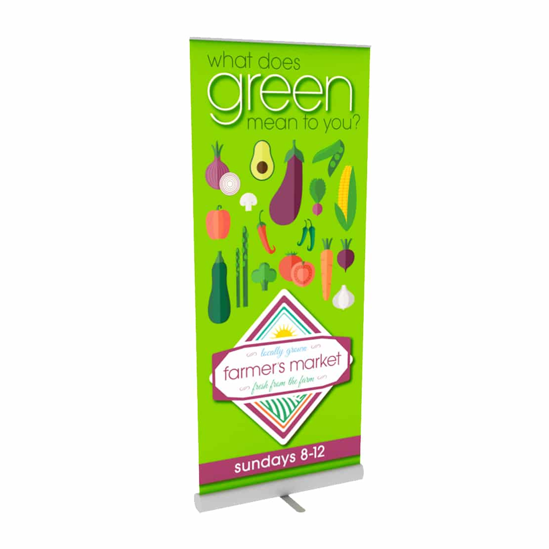 signline fabric graphic banner stand display front