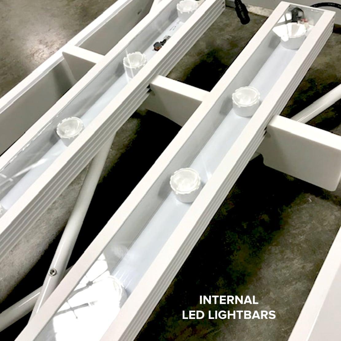 next radiance backlit SEG display showing internal LED light bars