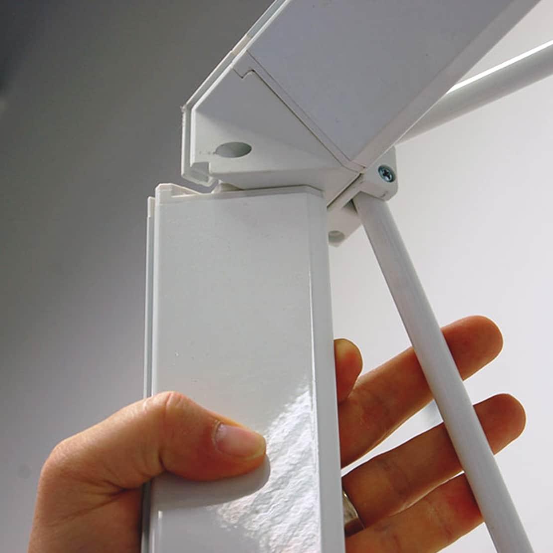 next radiance backlit SEG display frame corner assembly