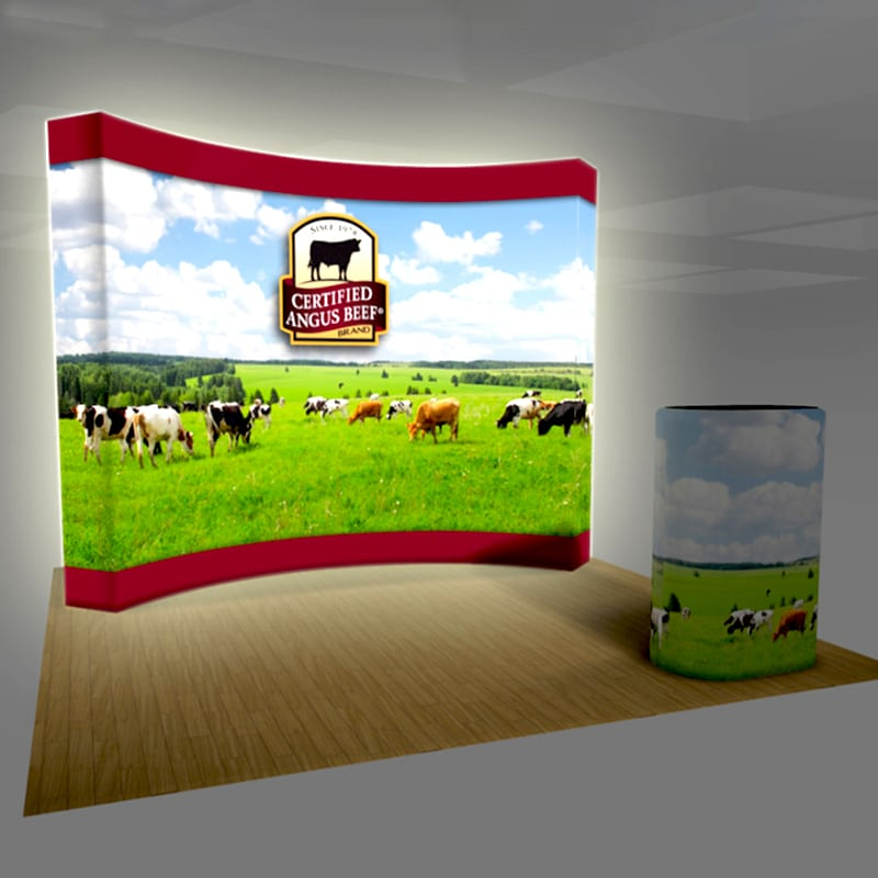 10 Foot LED Backlit VBurst Fabric Display