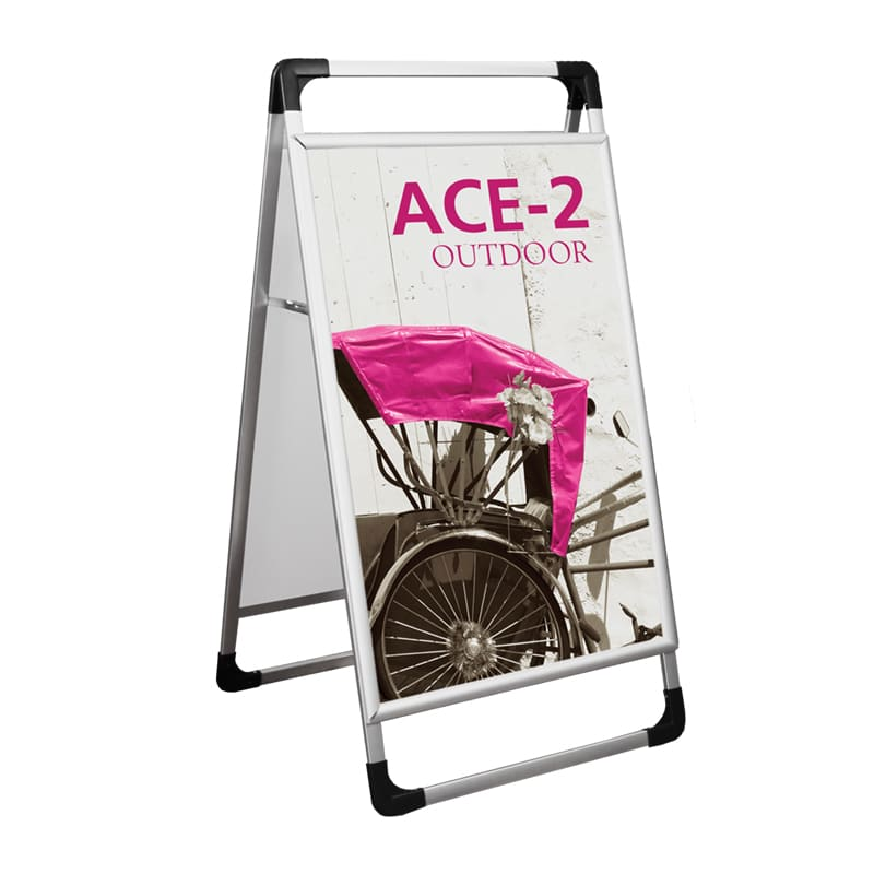 Outdoor Sign-Ace 2 with option for 1 or 2 graphics