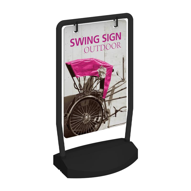 Outdoor Sign Swing with hardware and option for 1 or 2 graphics