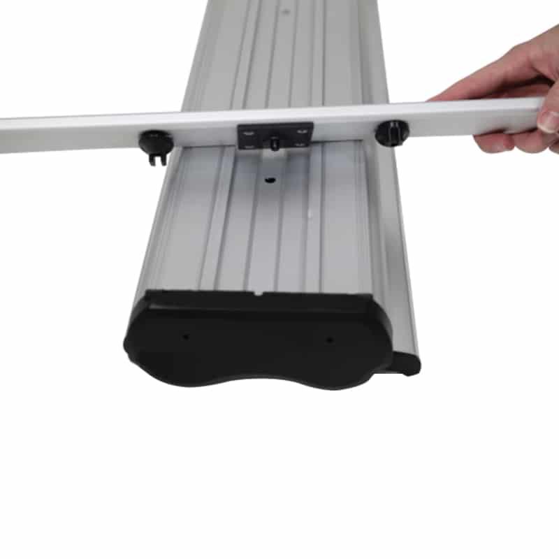 Outdoor Banner Stand Premium base hardware setup step 1