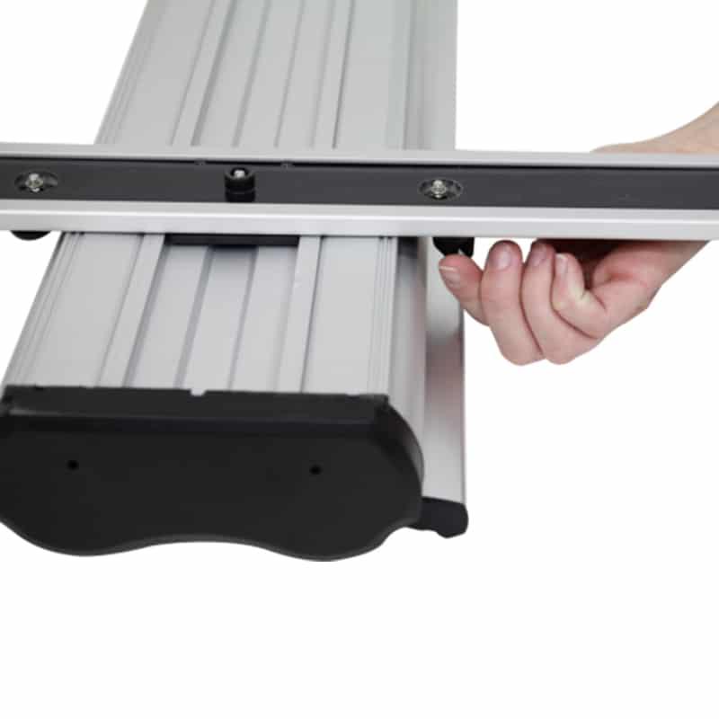 Outdoor Banner Stand Premium base hardware setup step 2
