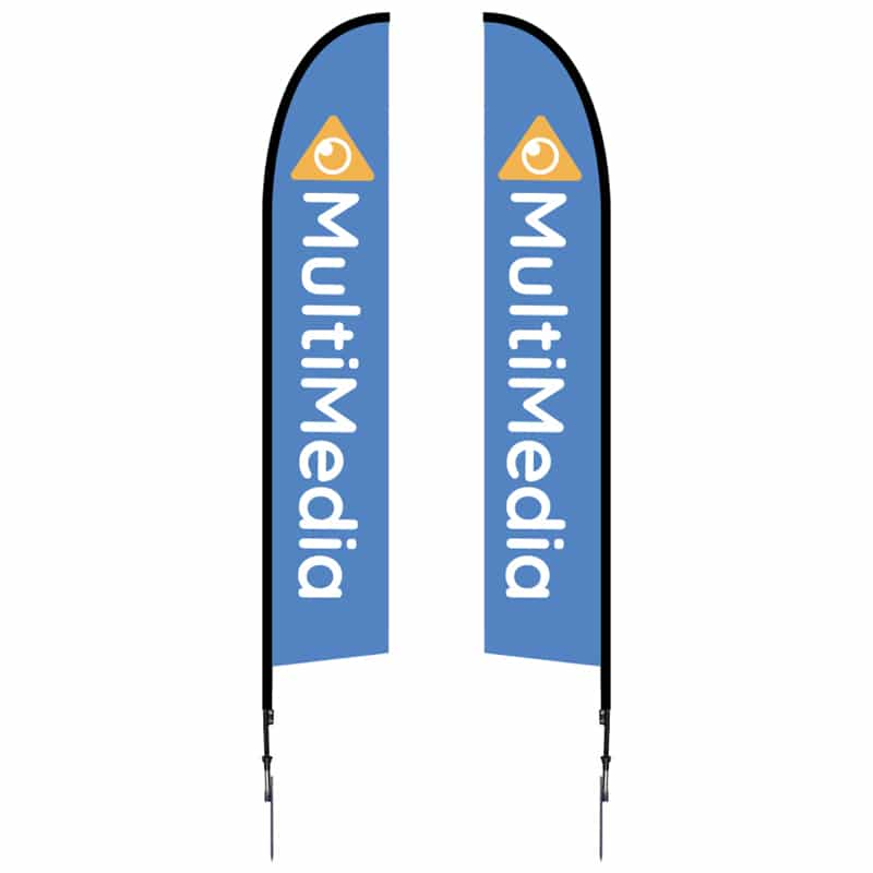 14' Outdoor Flag-Falcon with single or double sided graphics