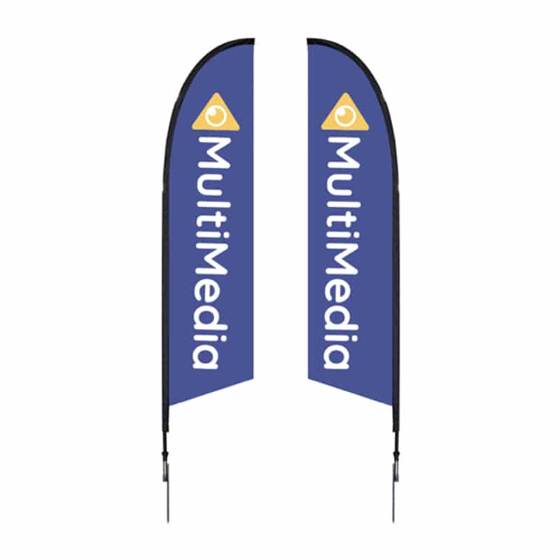 10.5' Outdoor Flag-Falcon with single or double sided graphics