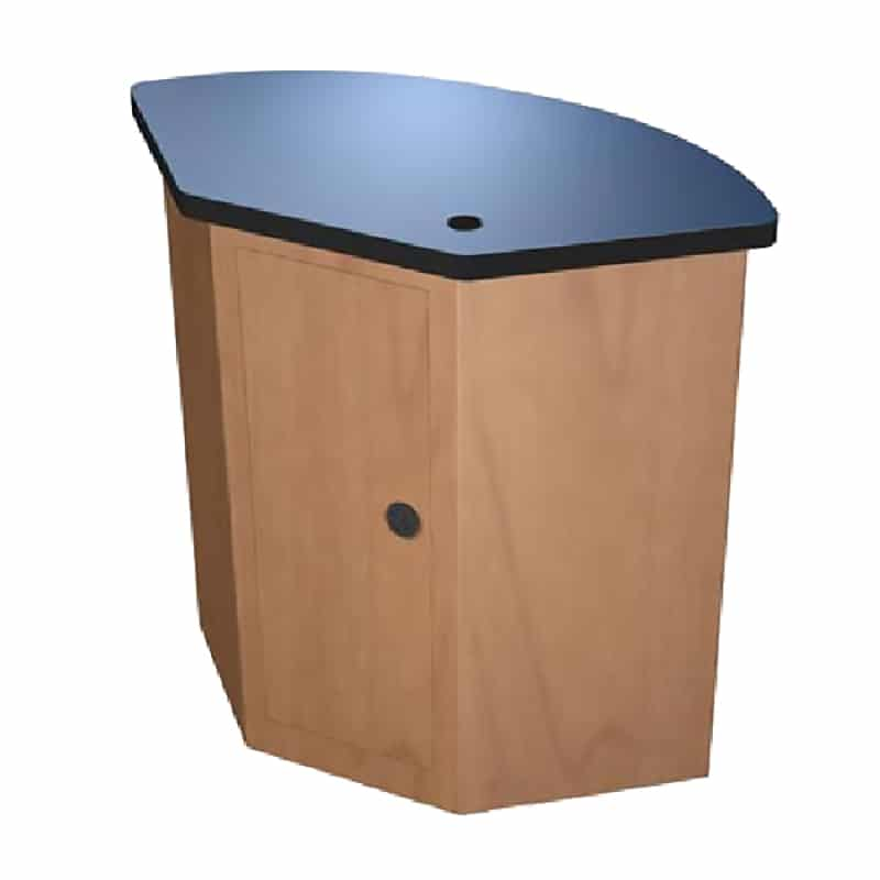 fan-shaped full laminate counter
