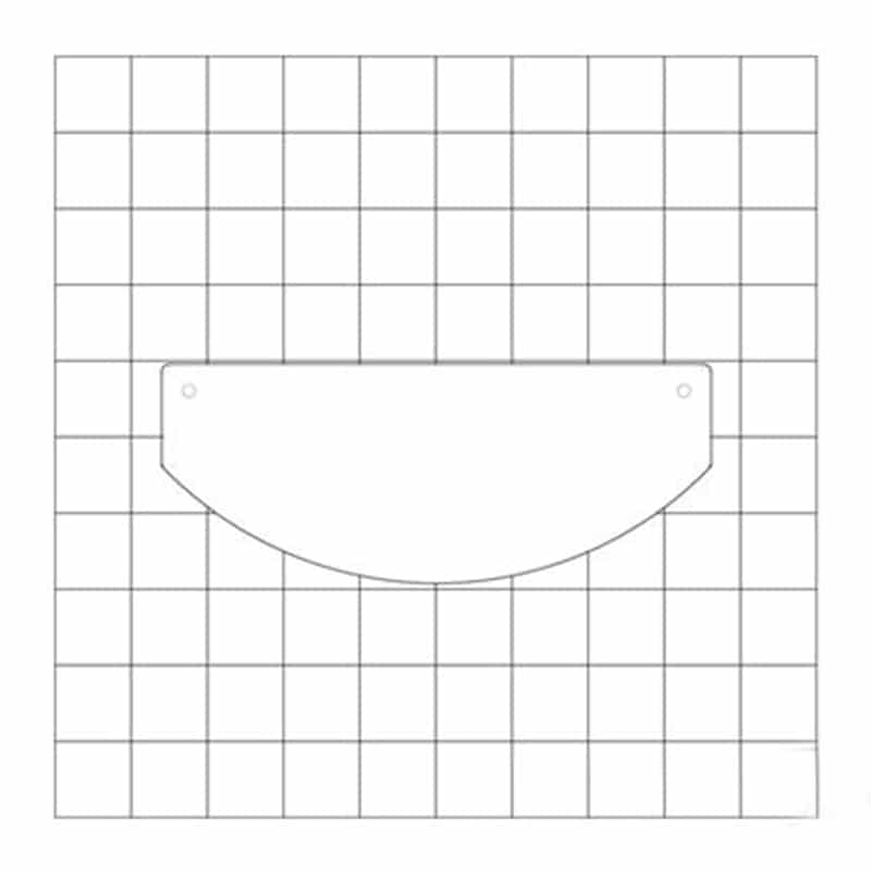 design line curved counter diagram showing footprint