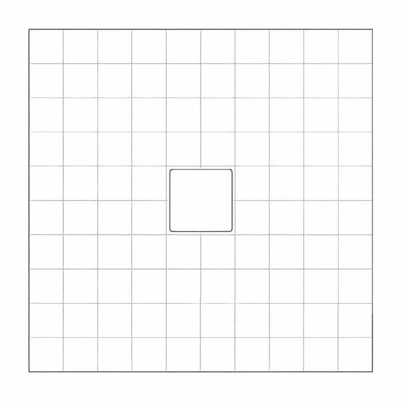 full graphics square counter footprint
