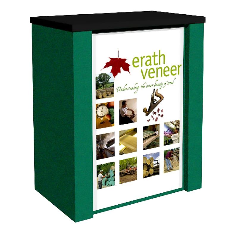 rolluxe counter kit green and black fabric with printed graphics