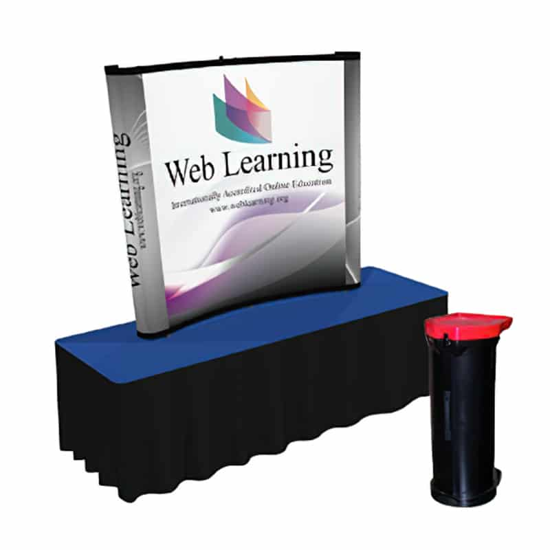 6 x 5 US Pop Up Display Curved model with lifetime warranty