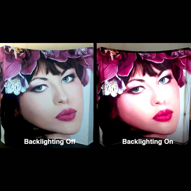 photo showing difference between backlit and non-backlit v-burst display