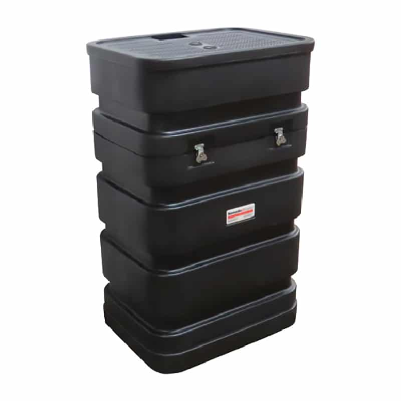 roll one black shipping case for instand display types and counter conversions