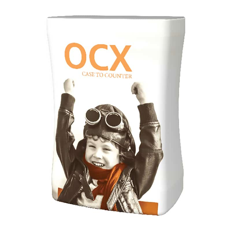 Add on a printed graphic to convert OCX Case to Case-to-Counter
