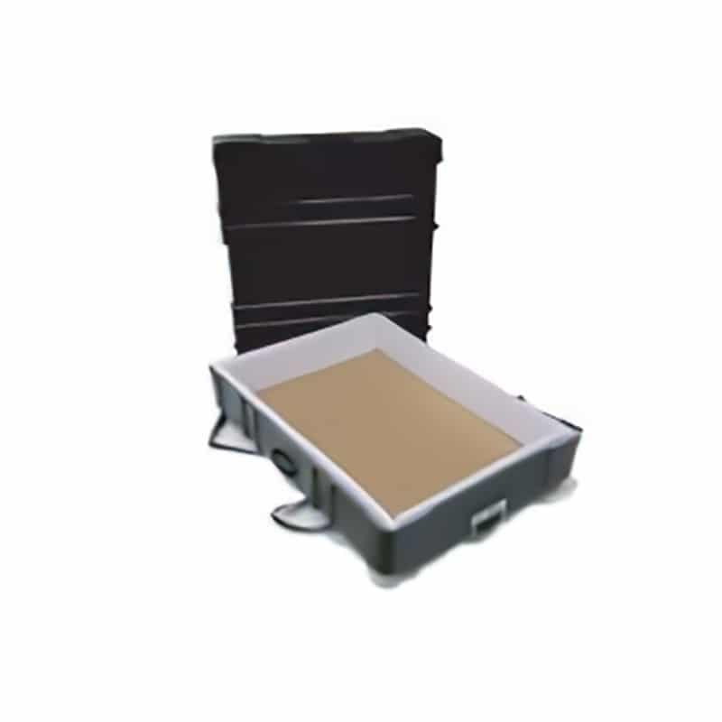 42 inch hard case with wheels for shipping furniture, showing interior