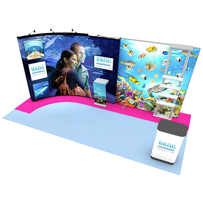20′ US Custom Pop up Display with backlight graphics