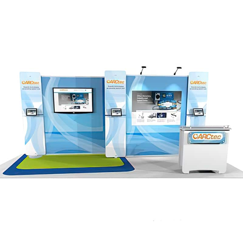 Show Smart 10 x 20 Multiple Sizes Exhibit look is driven by smart design, front view