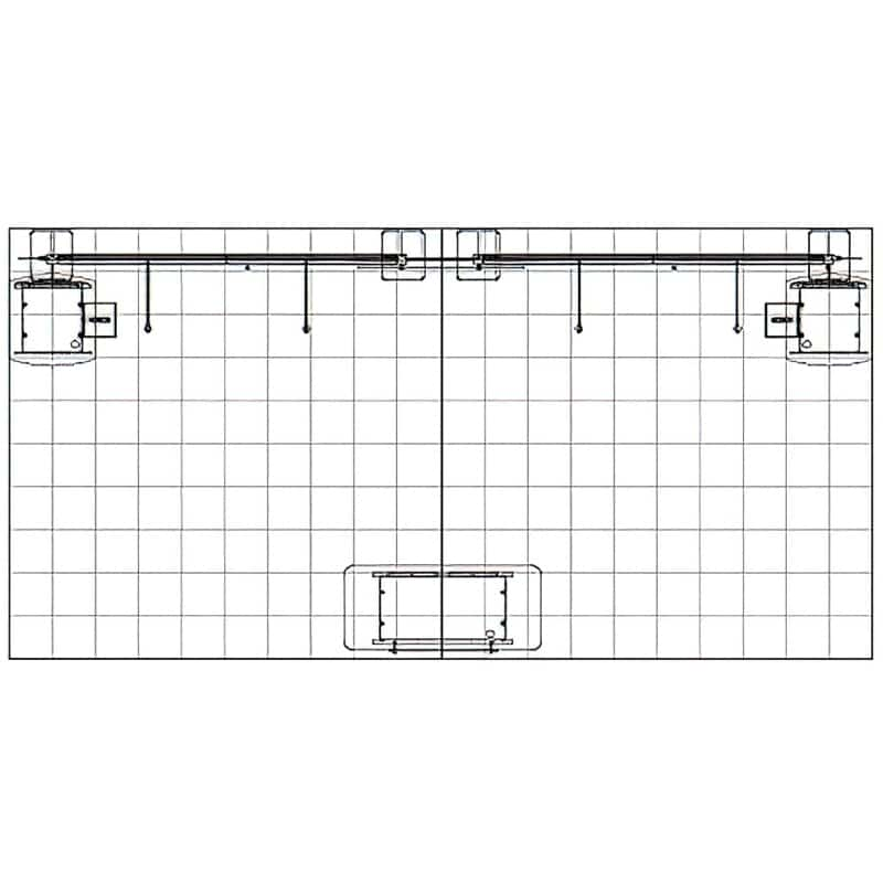 this floor plan 10 x 20 Open Exhibit offers big and bold signage to get noticed instantly