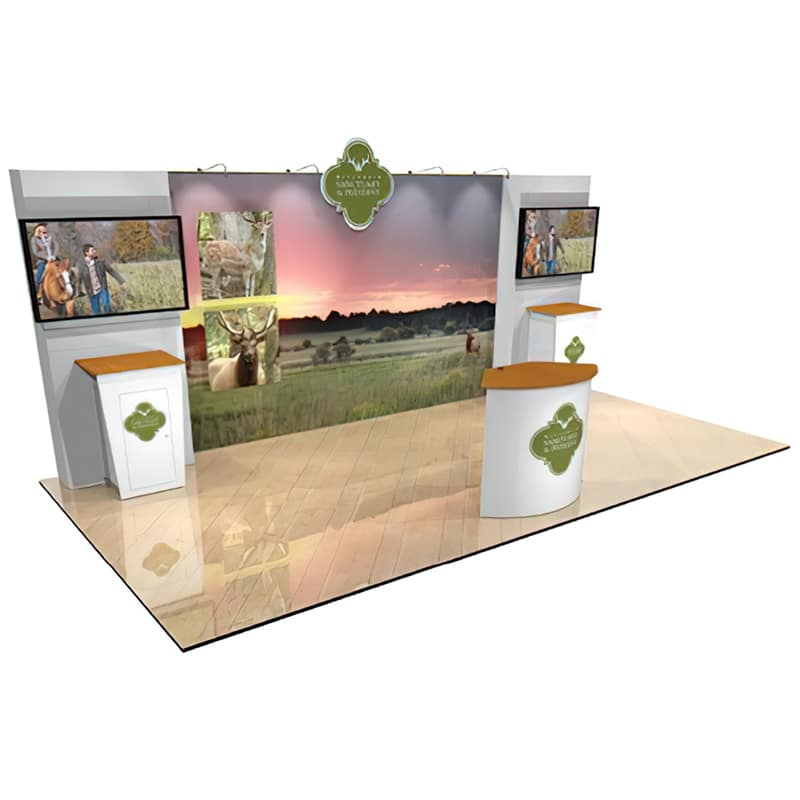 You are bringing your brand to more places with a 10 x 20 Display for Technology, left showspace view