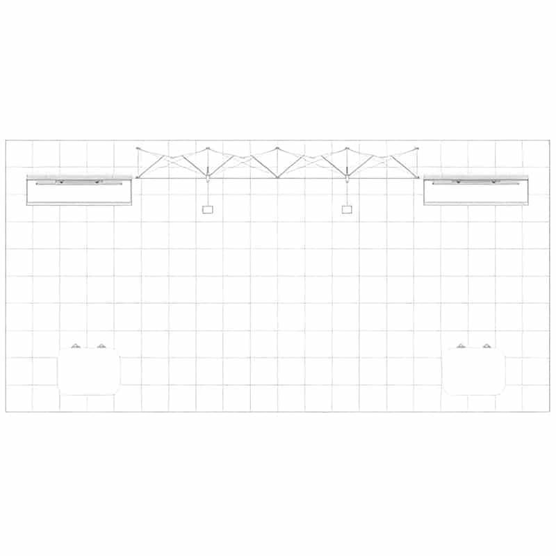 floorplan for 20' US Modular Display