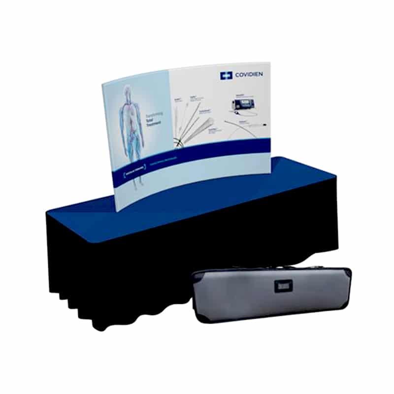 6 Foot Fabric Display Fab Lite Horizontal Curve shown as a kit