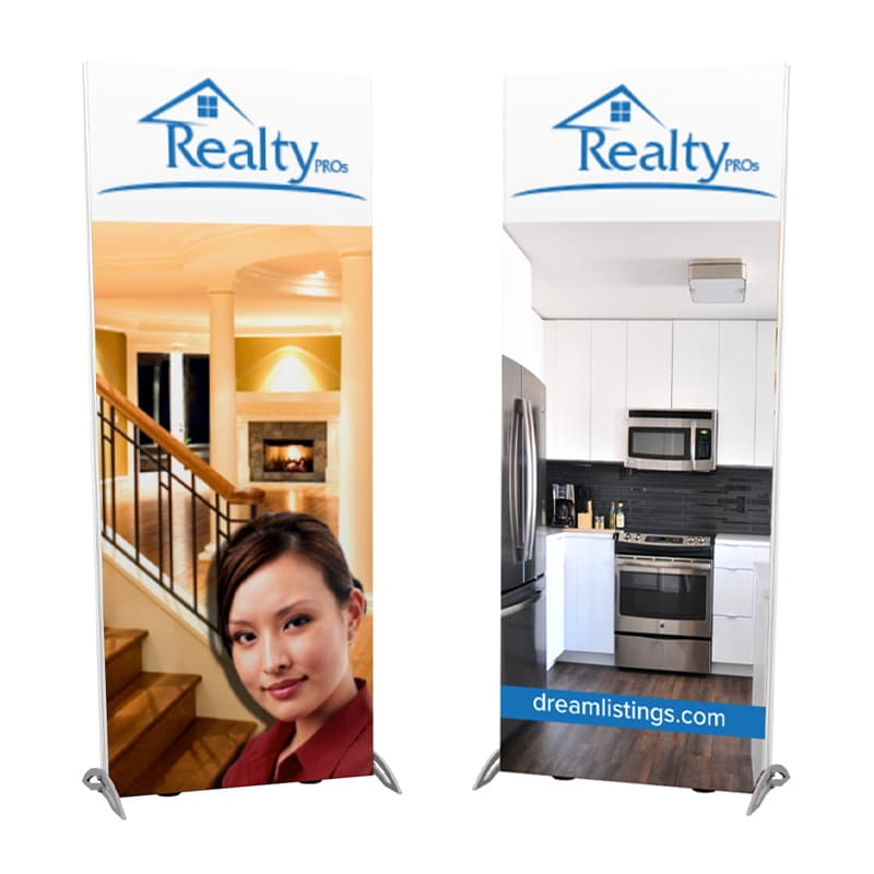 3 foot lightwall backlit SEG double-sided tower display