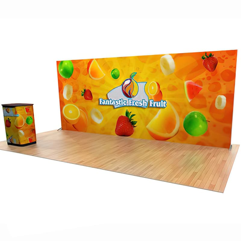 20 X 8 Double Light Wall Display with two large graphics and LED lighting
