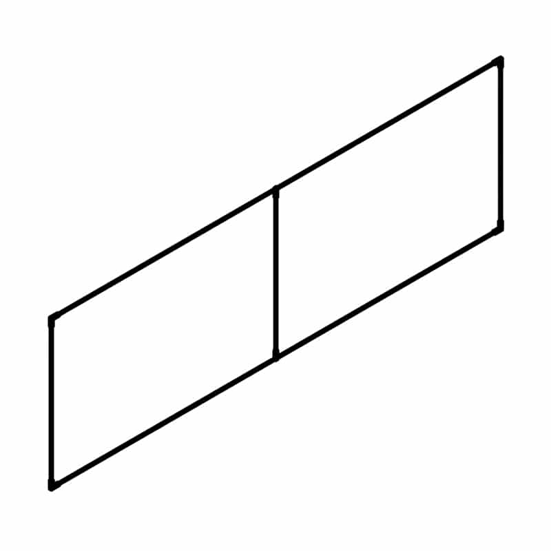 rectangle style 2d tube frame view