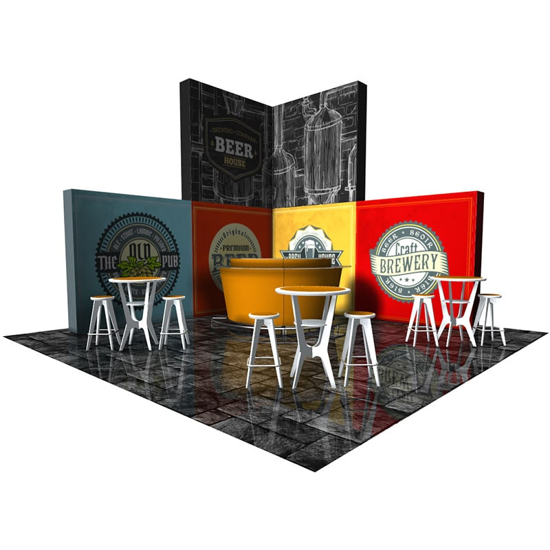15 x 15 Event Display with hardware, fabric graphics, cases