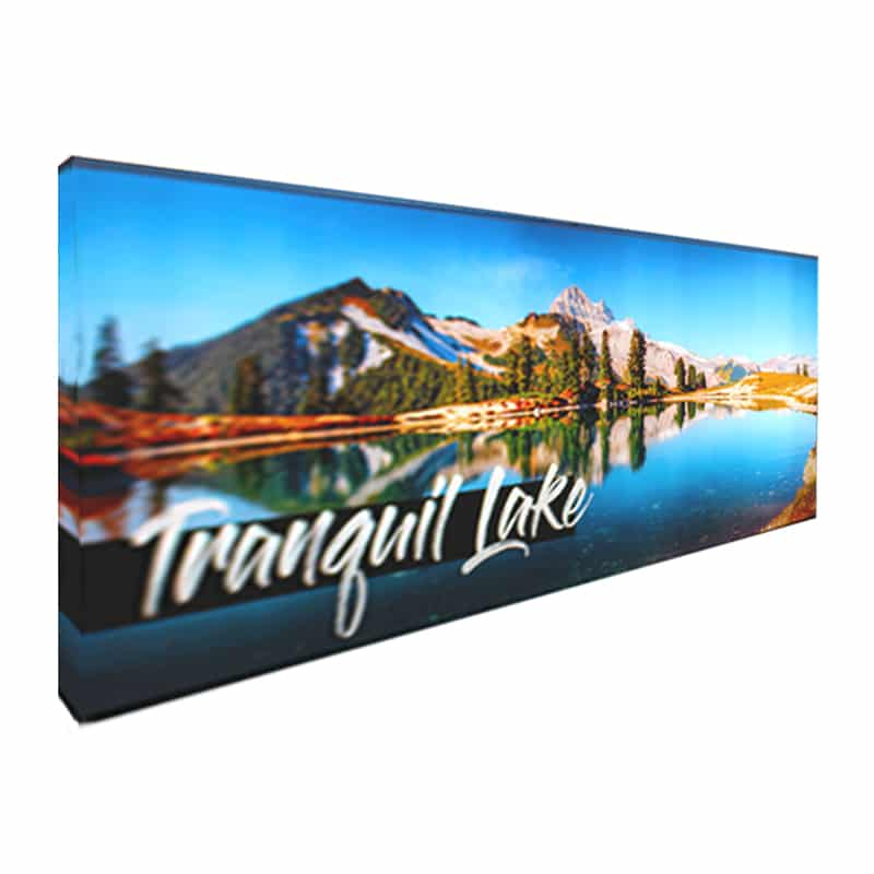 20' Backlit Display NEXT Radiance with large graphic.