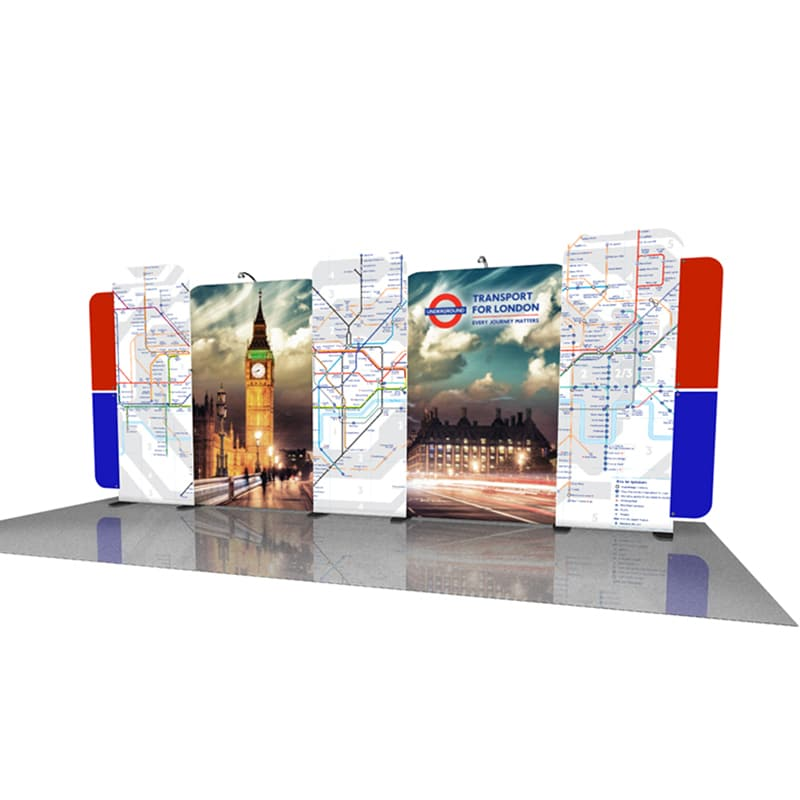 10 x 20 Navigator Display Kit 004 20 foot Modular Display right angle view