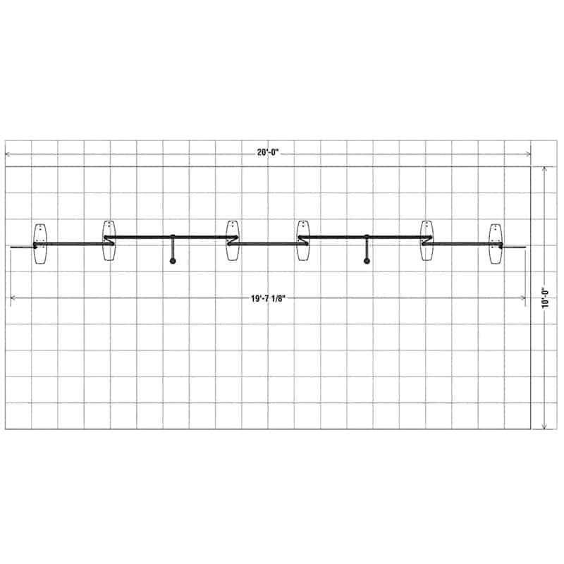 floorplan view of our 3d 10 x 20 Navigator Display Kit 004