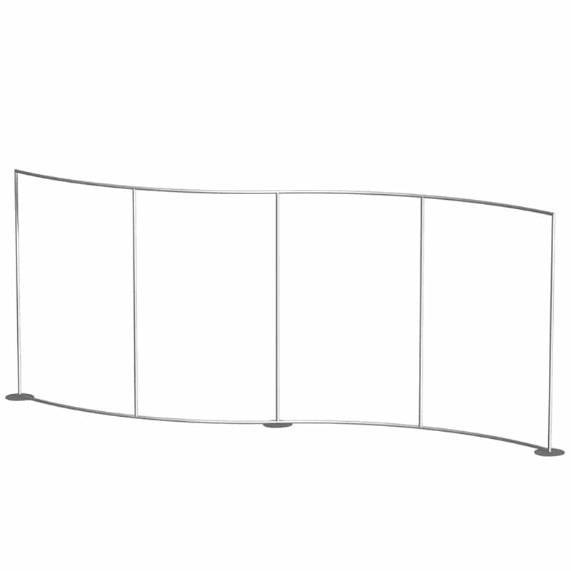 10 X 20 NAVIGATOR DISPLAY- SERPENTINE Unique S-curve design frame