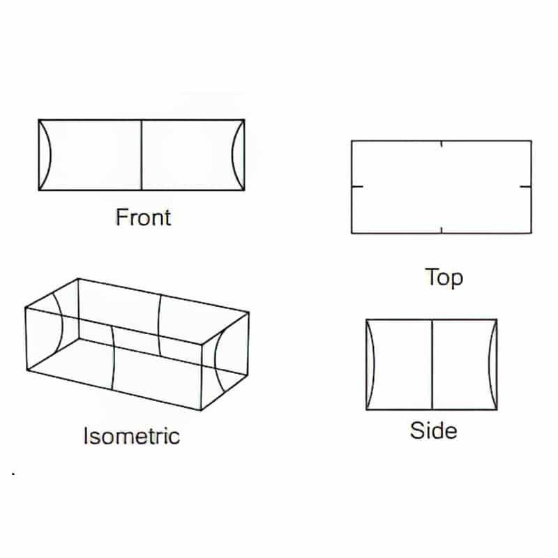 rectangle shape tube frame display iso views