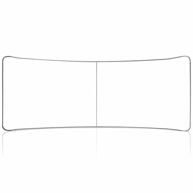 20 Foot fabric display curved tube frame image